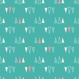 Nahtloses Muster von Dreiecken auf einem tadellosen gr?nen Hintergrund lizenzfreie abbildung