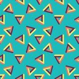Nahtloses Muster von endlosen Dreiecken Stockbilder