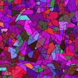 Nahtloses Muster von farbigen geometrischen Formen stock abbildung