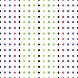 Nahtloses Muster von farbigen Punkten Stockfoto