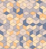 Nahtloses Muster von farbigen Würfeln Endloser mehrfarbiger Kubikhintergrund Würfelmuster Würfelvektor Berechnen Sie des Hintergr lizenzfreies stockbild