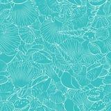 Nahtloses Muster von feinen Seeoberteilen Lizenzfreie Stockbilder