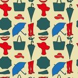 Nahtloses Muster von Frauen ` s Mode-Accessoires Lizenzfreies Stockbild