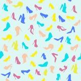 Nahtloses Muster von Frauenschuhen Stockbild