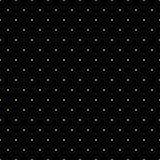 Nahtloses Muster von gelegentlichen goldenen Punkten auf schwarzem Hintergrund Elegantes Muster für Hintergrund, Gewebe und ander Stockbild