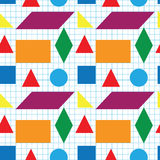 Nahtloses Muster von geometrischen Formen Lizenzfreies Stockfoto