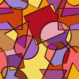 Nahtloses Muster von geometrischen Zahlen Stockfoto
