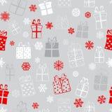 Nahtloses Muster von Geschenkboxen Lizenzfreies Stockbild