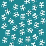 Nahtloses Muster von Geschenkboxen Lizenzfreie Stockfotografie