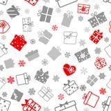 Nahtloses Muster von Geschenkboxen Stockbilder
