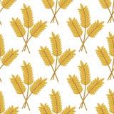 Nahtloses Muster von Getreideohren lizenzfreie abbildung