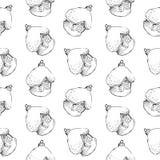 Nahtloses Muster von gezeichneten Bällen der Weinlese Hand und von Hausspielwaren Weihnachts- und des neuen Jahresgestaltungselem Stockfoto
