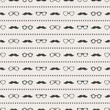 Nahtloses Muster von Gläsern und von Schnurrbart vektor abbildung