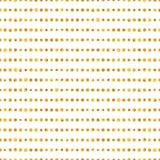 Nahtloses Muster von goldenen Punktstreifen Stockfotografie