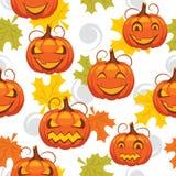 Nahtloses Muster von Halloween Stockbilder