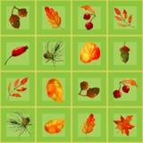 Nahtloses Muster von Herbstelementen Lizenzfreies Stockbild
