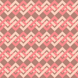Nahtloses Muster von Ineinander greifenlinien im Retrostil. Stockbilder