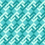 Nahtloses Muster von Ineinander greifenlinien im Retrostil. Stockbild