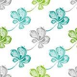 Nahtloses Muster von Kastanienblättern Lizenzfreies Stockbild
