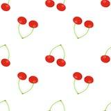 Nahtloses Muster von Kirschblüten auf einer weißen Hintergrundisolierung Stockfotografie