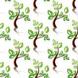 Nahtloses Muster von kleinen Bäumen Stockfotos