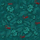 Nahtloses Muster von Krabbe 2 Stockfoto
