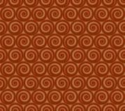 Nahtloses Muster von Kreisspiralen Lizenzfreie Stockfotos