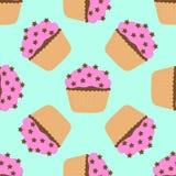 Nahtloses Muster von Kuchen Stockfoto