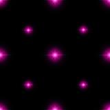 Nahtloses Muster von leuchtenden Sternen Illusion von hellen Blitzen Lizenzfreies Stockfoto