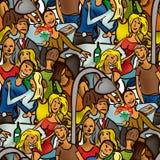 Nahtloses Muster von Leuten für einen Weg Lizenzfreies Stockfoto