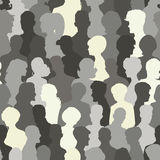 Nahtloses Muster von Leuteschattenbildern Stockbild