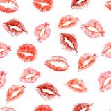 Nahtloses Muster von Liebesküssen Lizenzfreie Stockbilder