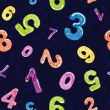 Nahtloses Muster von lustigen Zahlen Blasenkarikatur von Güssen Bunte Zahlen des Gelees 3d für Kinder Vektor vektor abbildung