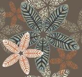 Nahtloses Muster von Maranta-Blättern Lizenzfreie Stockfotografie