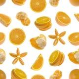 Nahtloses Muster von Orangen Lizenzfreie Stockbilder