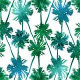 Nahtloses Muster von Palmenblättern Stockfotos