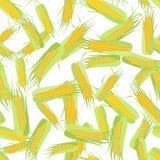 Nahtloses Muster von Pfeilern von Mais auf Weiß lizenzfreie abbildung