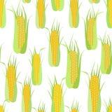 Nahtloses Muster von Pfeilern von Mais auf Weiß stock abbildung