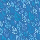 Nahtloses Muster von Regentropfen Stockbilder