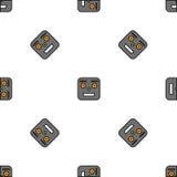Nahtloses Muster von Robotern Lizenzfreie Stockfotos