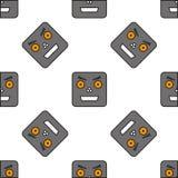 Nahtloses Muster von Robotern Stockbilder