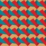 Nahtloses Muster von rotem und blauem Retro- Stockbild