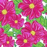 Nahtloses Muster von roten Blumen Lizenzfreies Stockfoto