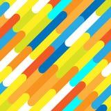 Nahtloses Muster von schönen Farblinien Lizenzfreies Stockbild