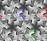 Nahtloses Muster von Schwarzweiss-Vögeln Stockbilder