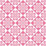Nahtloses Muster von stilisierten Herzen und von geometrischen Formen Lizenzfreie Stockfotos