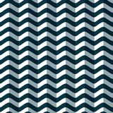 Nahtloses Muster von stilisierten Meereswellen Geometrischer Hintergrund Volumetrische Beschaffenheit Lizenzfreie Stockfotografie