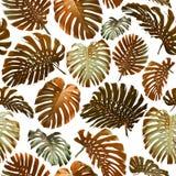 Nahtloses Muster von tropischen Blättern Lizenzfreie Stockfotos