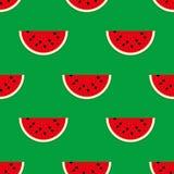 Nahtloses Muster von Wassermelonen Lizenzfreies Stockbild