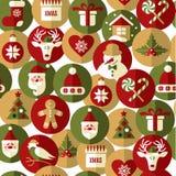 Nahtloses Muster von Weihnachten Stockbild